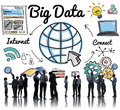 Big Data Information Storage System Networking Concept Royalty Free Stock Photo