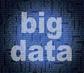 Big data represents world wide web and net indicating website Stock Photography