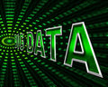 Big data shows info bytes and byte meaning dataflow Royalty Free Stock Photo