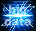 Big data shows world wide web and websites meaning website Stock Images
