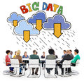 Big Data Storage Database Download Concept Royalty Free Stock Photo