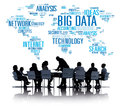 Big Data Storage Information World Map Concept Royalty Free Stock Photo