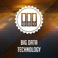 Big Data Technology on Triangle Background. Stock Images