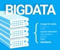 Big data v visualisation infographic concept illustration of Stock Images