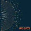 Big data visualization. Futuristic infographic. Information aesthetic design. Visual data complexity.