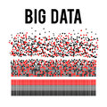 Big data visualization vector background.