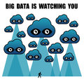 Big data is watching you Stock Photos