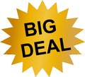 Big Deal sticker with golden color Royalty Free Stock Photo