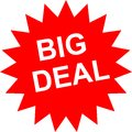 Big Deal sticker with red color