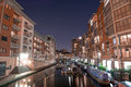 Big Dipper over Birmingham Canal At Night Royalty Free Stock Photo