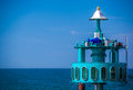 Big diving bell at zingst at the baltic sea Royalty Free Stock Photo