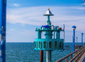 Big diving bell at zingst at the baltic sea Stock Image