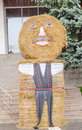 Big doll from straw bale