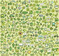 Big doodled ecology icons collection small hand drawn illustrations are isolated group and in eps mode Stock Images
