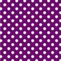 Big dots polka purple seamless white Royaltyfria Bilder