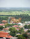 Big dragon landscape with city view landmark of suphanburi thailand Stock Image