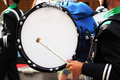 Big drum of marching band in parade Royalty Free Stock Photo