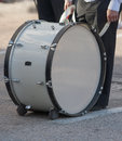 Big Drum on street before start of parade Royalty Free Stock Photo