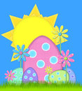 Big Easter Egg has sunny day Stock Image