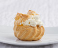 Big eclair isolated Royalty Free Stock Photography