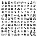 Big education icons set elegant vector and school Royalty Free Stock Images