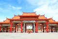 The big entry of China temple at Thumkatunyoo Stock Photos