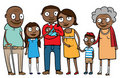 Big ethnic family Stock Image