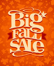 Big fall sale design vintage Stock Photos