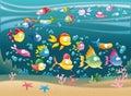 Veľký rodina z v more