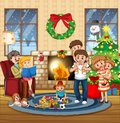 Big family in the house Royalty Free Stock Photo