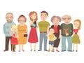 Big family , mom, dad , kids, grandparents . Royalty Free Stock Photo