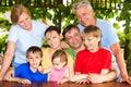 Big family portrait Stock Photography