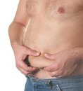 Big fat belly Royalty Free Stock Photo