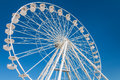 Big Ferris Wheel On Blue Sky
