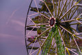 Big ferris Wheel at night during sunset in summer Royalty Free Stock Photo