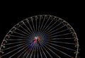Big ferris wheel with night time, in Essen, Germany Royalty Free Stock Photo