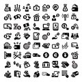 Big finance icons set elegant business and financial Stock Image