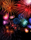 Big fireworks display festive Royalty Free Stock Images
