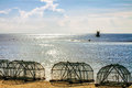 Big fishing gear at the beach thailand Stock Photos