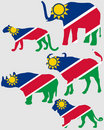 Big Five Namibia Royalty Free Stock Image