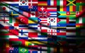 Big flag background made of world country flags vector Stock Photos