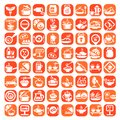 Big food icon set elegant icons created for mobile web and applications Royalty Free Stock Photos