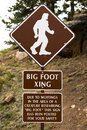 Big foot crossing saftey street sign safety located in pikes peak colorado Royalty Free Stock Photos
