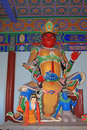 Big four heavenly king sculpture in the hall in a temple north china Stock Photography