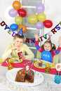 Big funny birthday party Stock Photo