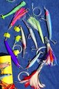 Big game fishing lures hook for tuna marlin Royalty Free Stock Photo