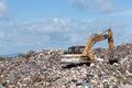 Big garbage heap problem of pollution Stock Photography