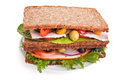 Big German Rye Bread Sandwich Royalty Free Stock Photo