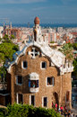 Big ginger house in park guell and barcelona city spain Stock Photos