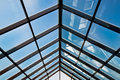 Big glass roof Royalty Free Stock Images